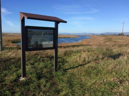 Photo of Lake Earl Wildlife Area kiosk